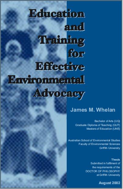 James Whelan PhD cover