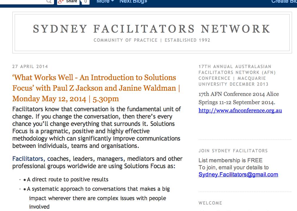 sydney facilitators network