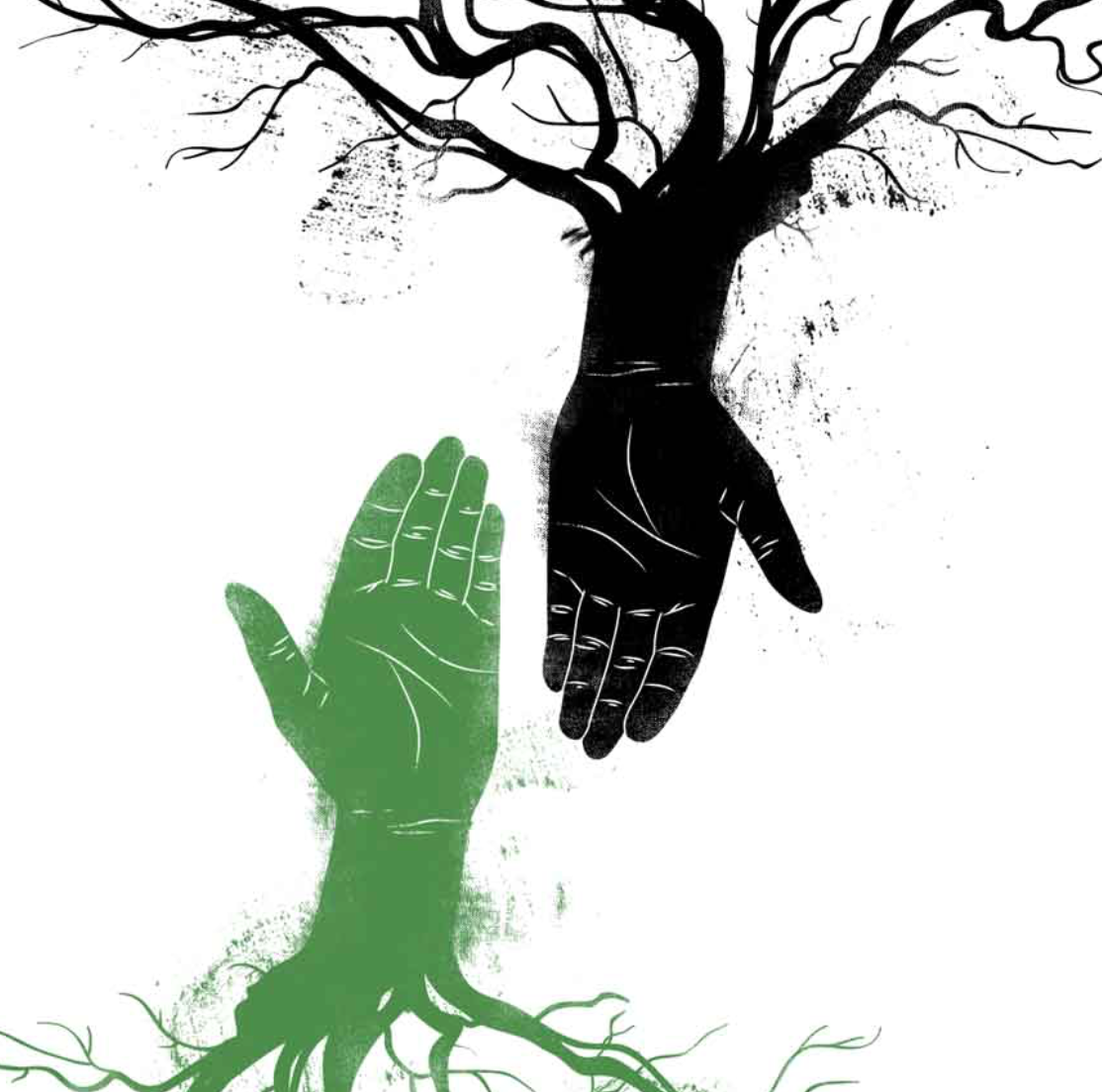 green black