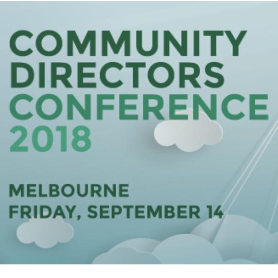 Community directors conference | 14 Sept, Melbourne
